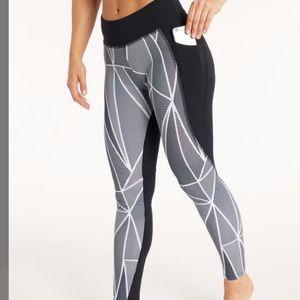 Black & White Geometric Pocket HighWaist Leggings